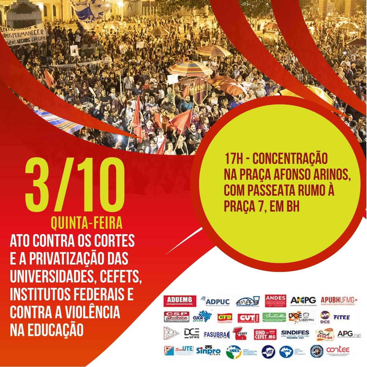 SINDIFES convoca Categoria para Tsunami da Educação no dia 3 de outubro em Belo Horizonte 1