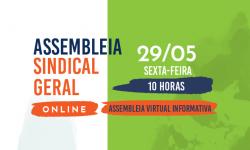 SINDIFES fará Assembleia Informativa Virtual nesta sexta, 29, às 10h. Veja como participar. 1
