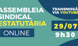 Assembleia Estatutária Virtual discutirá processo eleitoral do SINDIFES no dia 29, com transmissão via Youtube 1
