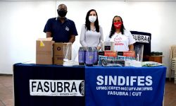 Campanha de Solidariedade do SINDIFES e da FASUBRA doam insumos e equipamentos para produção de protetores faciais 1