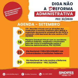 SINDIFES divulga agenda de luta contra a Reforma Administrativa em Setembro 3