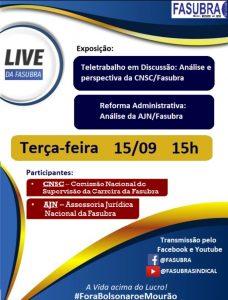 FASUBRA realizará live sobre o Teletrabalho e a Reforma Administrativa 3