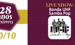 Assista a Live de Aniversário do SINDIFES com o show da banda UHF Samba Pop 1