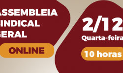 SINDIFES convoca Categoria para Assembleia Sindical Online nesta quarta, dia 2 1