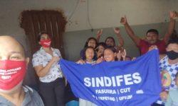 SINDIFES doa alimentos e produtos de limpeza para Venezuelanos em Montes Claros 2