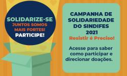 O SINDIFES está recebendo indicações de entidades e comunidades para doar itens de alimentação e higiene pessoal 1