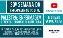 SINDIFES fará palestra na 30º Semana da Enfermagem do HC-UFMG 3