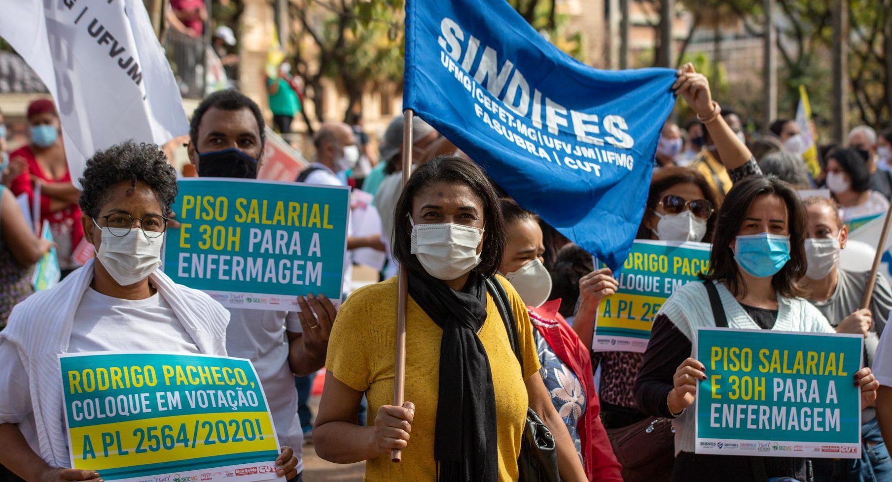Trabalhadores da Enfermagem vão as ruas exigir que o Senador Rodrigo Pacheco coloque o PL2564/2020 em votação 3