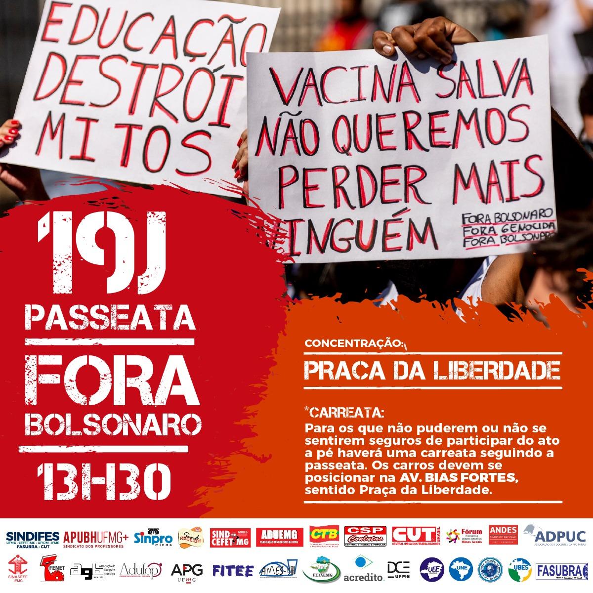 19J - Ato pelo Fora Bolsonaro no dia 19 de junho 5
