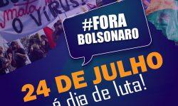 24 de julho é dia de intensificar a presença nas ruas pelo Fora Bolsonaro 2