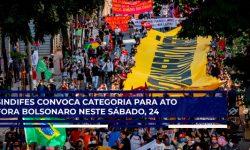 SINDIFES convoca Categoria para ato pelo Fora Bolsonaro, neste sábado, 24, às 13h30, na Praça da Liberdade em Belo Horizonte 2