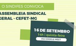 SINDIFES convoca TAE do CEFET-MG para Assembleia que discutirá retomada das atividades presenciais 5