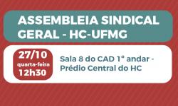 SINDIFES convoca TAE do HC-UFMG para Assembleia no dia 27/10, às 12h30 1